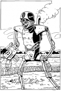 Expendable combat robot.