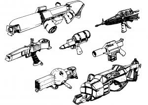 Not so obvious guns.