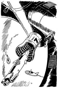 Tom Corbett Space Cadet Adventure: Danger In Deep Space By Carey Rockwell, Tech adviser Willy Ley. Illustrator Louis Glanzman Gosset and Dunlap 1953
