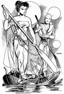 The Hand of Zei by Lyon Sprague De Camp 1950 Illustration Edd Cartier.